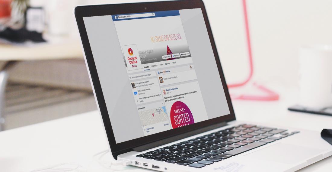 Factoria d'Idees gestión de contenidos facebook. General Óptica Dénia