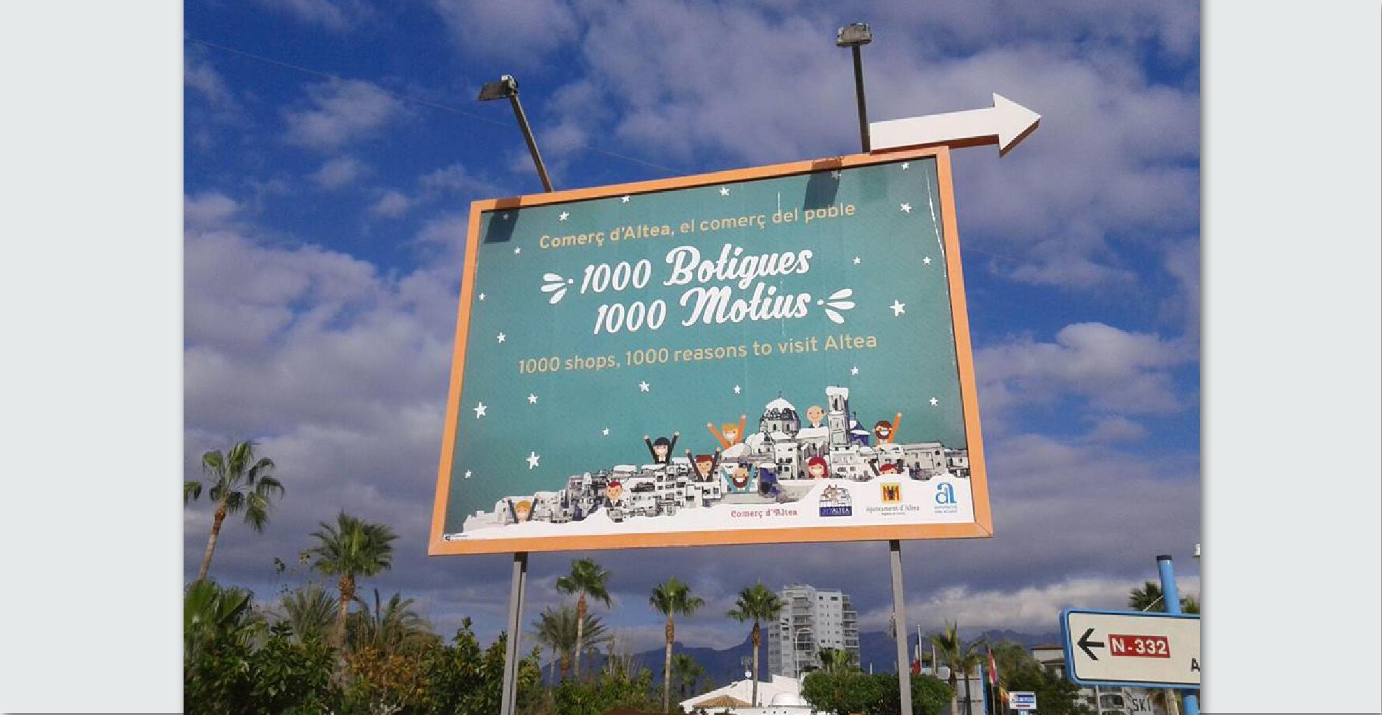"""Campaña """"1000 botiques, 1000 motius. Comerç d'Altea"""""""